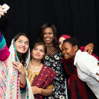 First Lady Michelle Obama and Broadway's biggest stars spread the message of global girls' empowerment