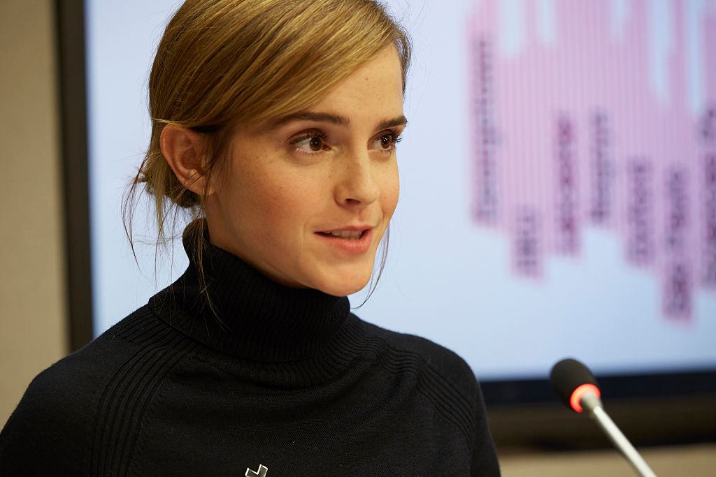 Emma Watson looks like she just stepped off the runway while on her way to the United Nations