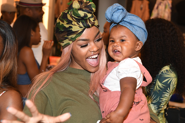 Teyana Taylor, total badass mommy, delivered her baby in her bathroom