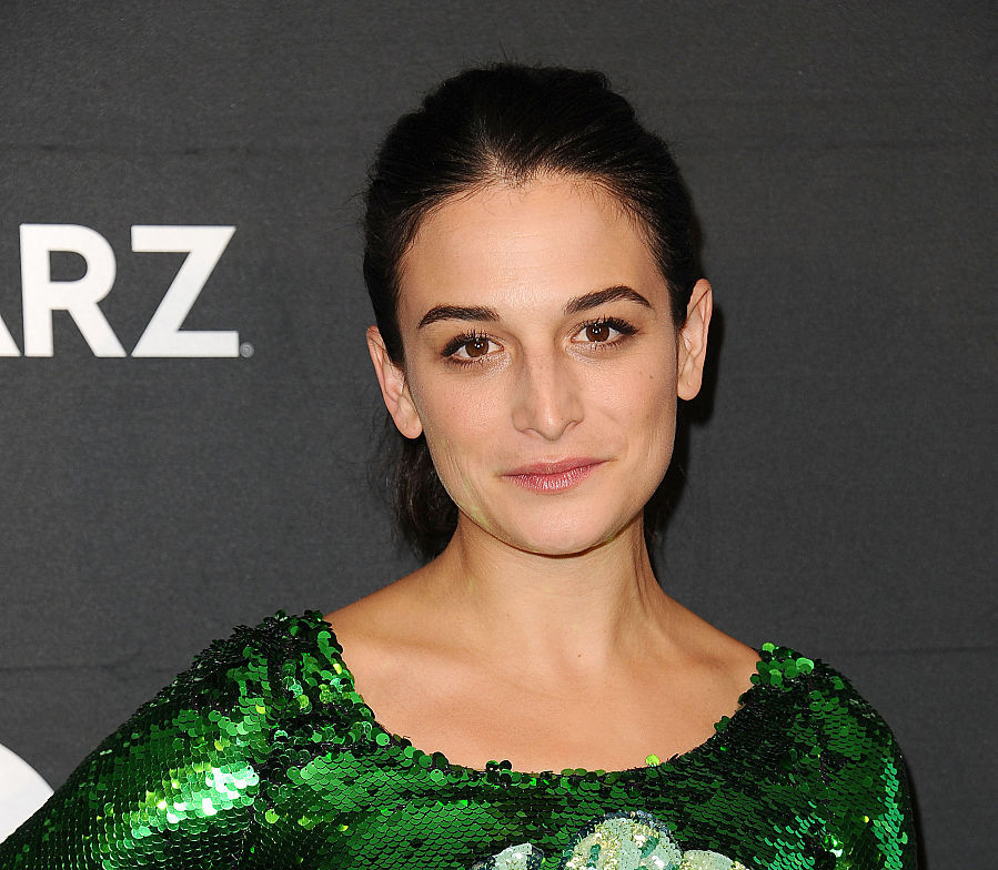 Jenny Slate looks hella chic covered in leaves and sequins