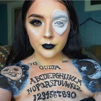 This Ouija board-inspired makeup is getting us excited for the upcoming spooky season