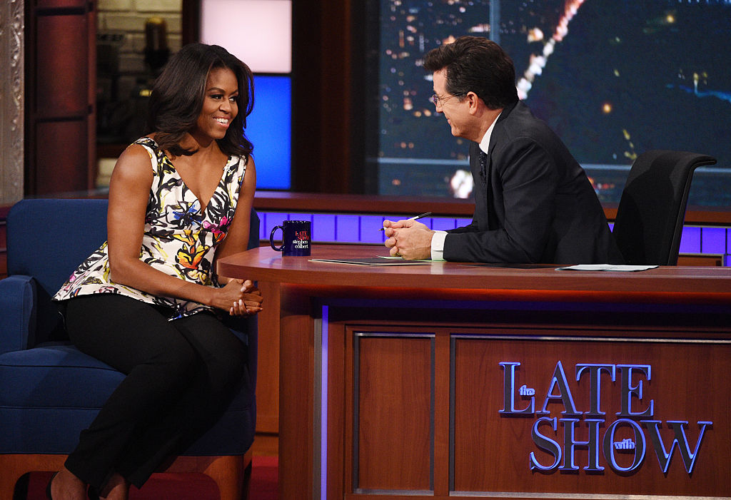 This video of Michelle Obama and Stephen Colbert hanging out in a pillow fort is TOO CUTE