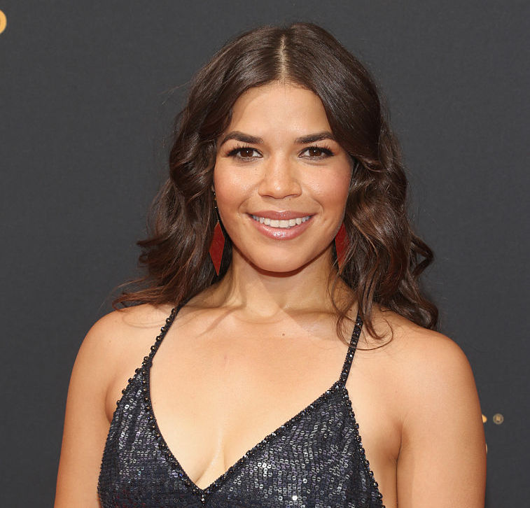 America Ferrera wore the most beautiful black dress, with a *little* surprise on top