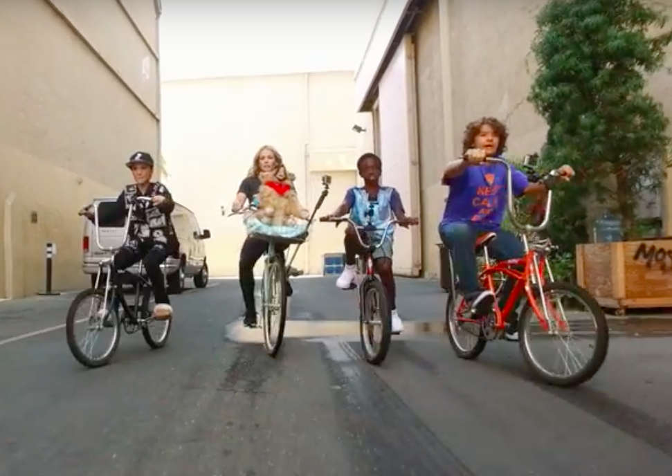 "Chelsea Handler rides bikes with the ""Stranger Things"" kids and we can't stop watching"