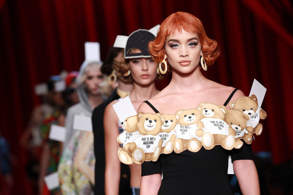 We are swooning over Moschino's paper doll-inspired runway show