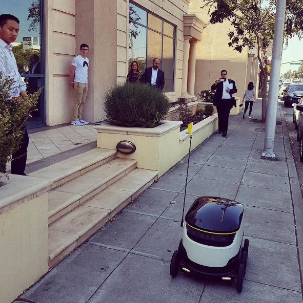 Robots will be delivering groceries and takeout in the near future, which is equally creepy and awesome