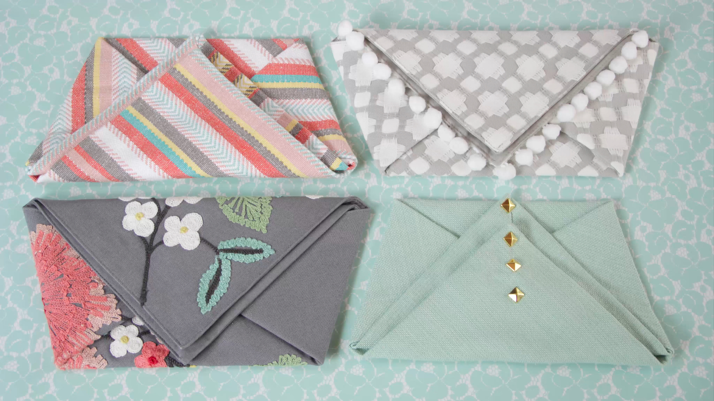 Here's how to make a chic clutch - zero sewing required