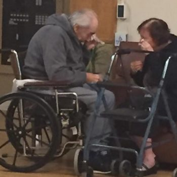 The elderly couple who were forced into different nursing homes have reunited and we're not crying, you're crying