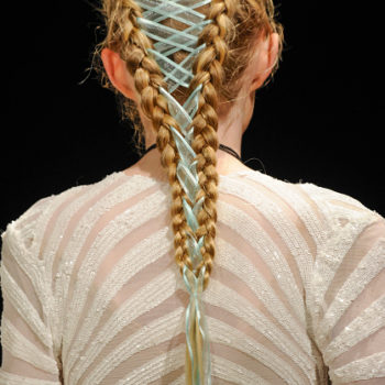 "These gorgeous ""corset"" braids from fashion week are about to be everywhere"