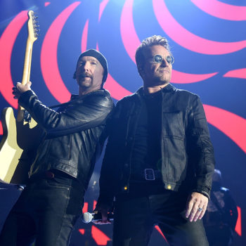 U2 performed at the iHeartRadio festival this weekend, with a little help from… Donald Trump?