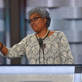 Can we talk about DNC chair Donna Brazile's fabulous lavender hair?