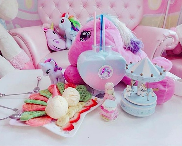 This unicorn-themed cafe is straight out of all of our Lisa Frank dreams