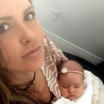 Audrina Partridge just shared a super candid pic of her breastfeeding on Instagram, and it's gorgeous