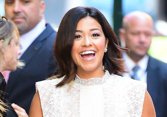 Gina Rodriguez's little white dress is fit for a minimalistic bride who loves lace