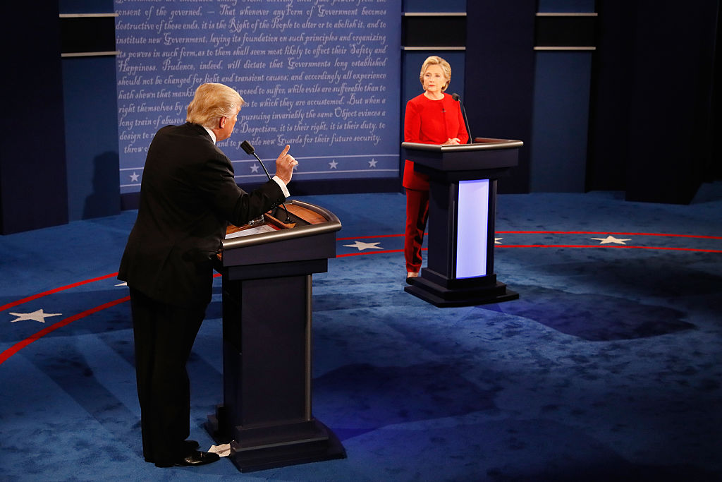 If you thought Donald Trump interrupted Hillary Clinton A LOT during the debate, you'd be right