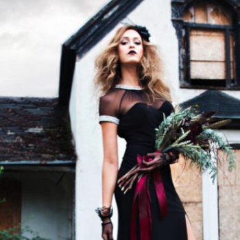 15 Halloween-inspired wedding dresses that seriously say ~til death do us part~