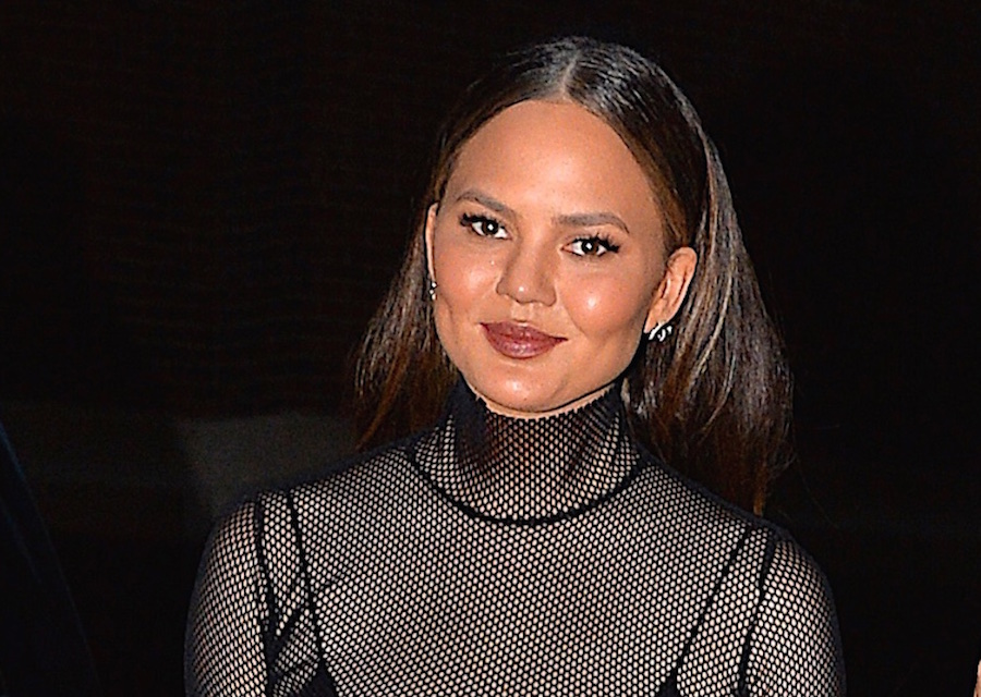 Chrissy Teigen has managed to bring this '90s goth look into a stylish modern update