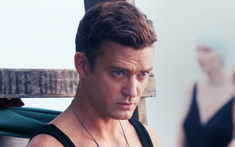Justin Timberlake rocks the heck out of an old-timey bathing suit