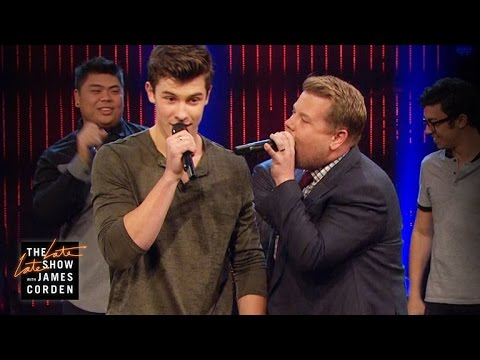 Shawn Mendes had an acapella-off with James Corden and it was inhumanly good