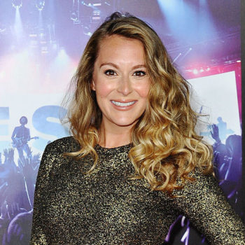 """Spy Kids"" star Alexa PenaVega's maternity dress is a metallic marvel covered in polka dots"