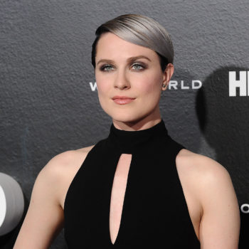 "Evan Rachel Wood's silver ombre hair at the ""Westworld"" premiere is perfect"