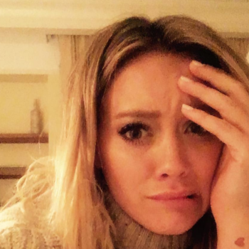 Hilary Duff took a bath filled with alcohol and we're intrigued