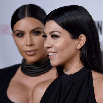 Kim and Kourtney Kardashian are GOLDEN in these metallic outfits (like, literally)