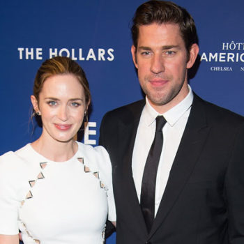 "LOL! John Krasinski and Emily Blunt just casually ""ran into"" each other on the train"