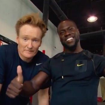 Conan O'Brien and Kevin Hart go to the gym, mostly make fun of each other