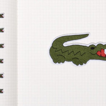 The new Lacoste logo is completely unrecognizable, but we are digging it