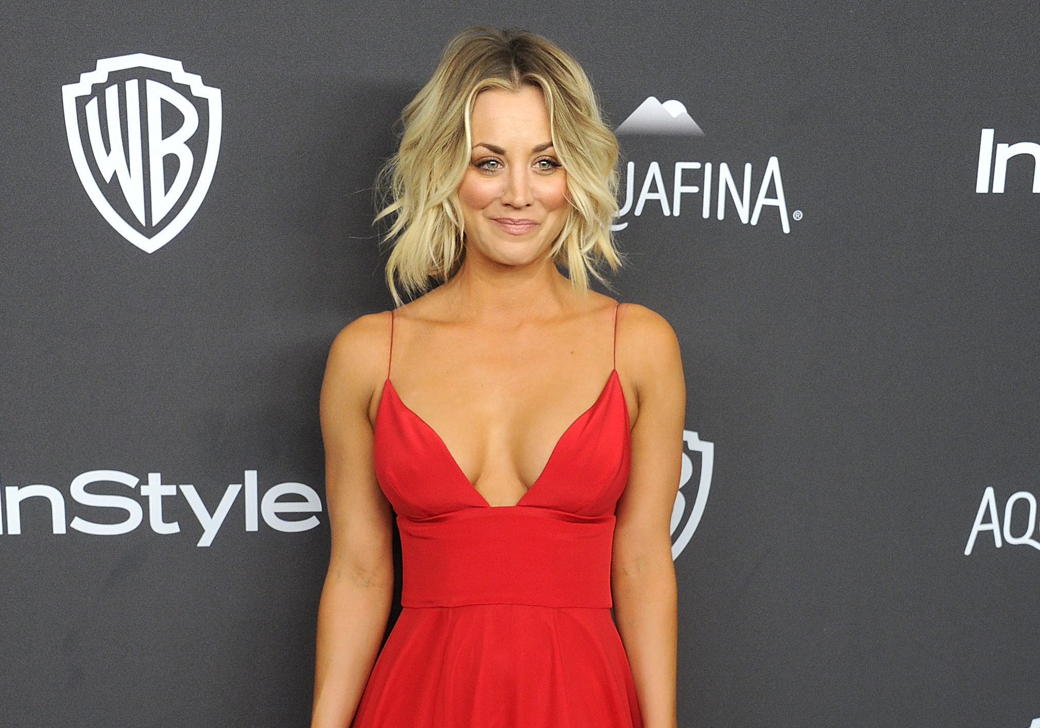 """Big Bang Theory's"" Kaley Cuoco wore animal print (and sparkly sneakers!) in the most unique way"