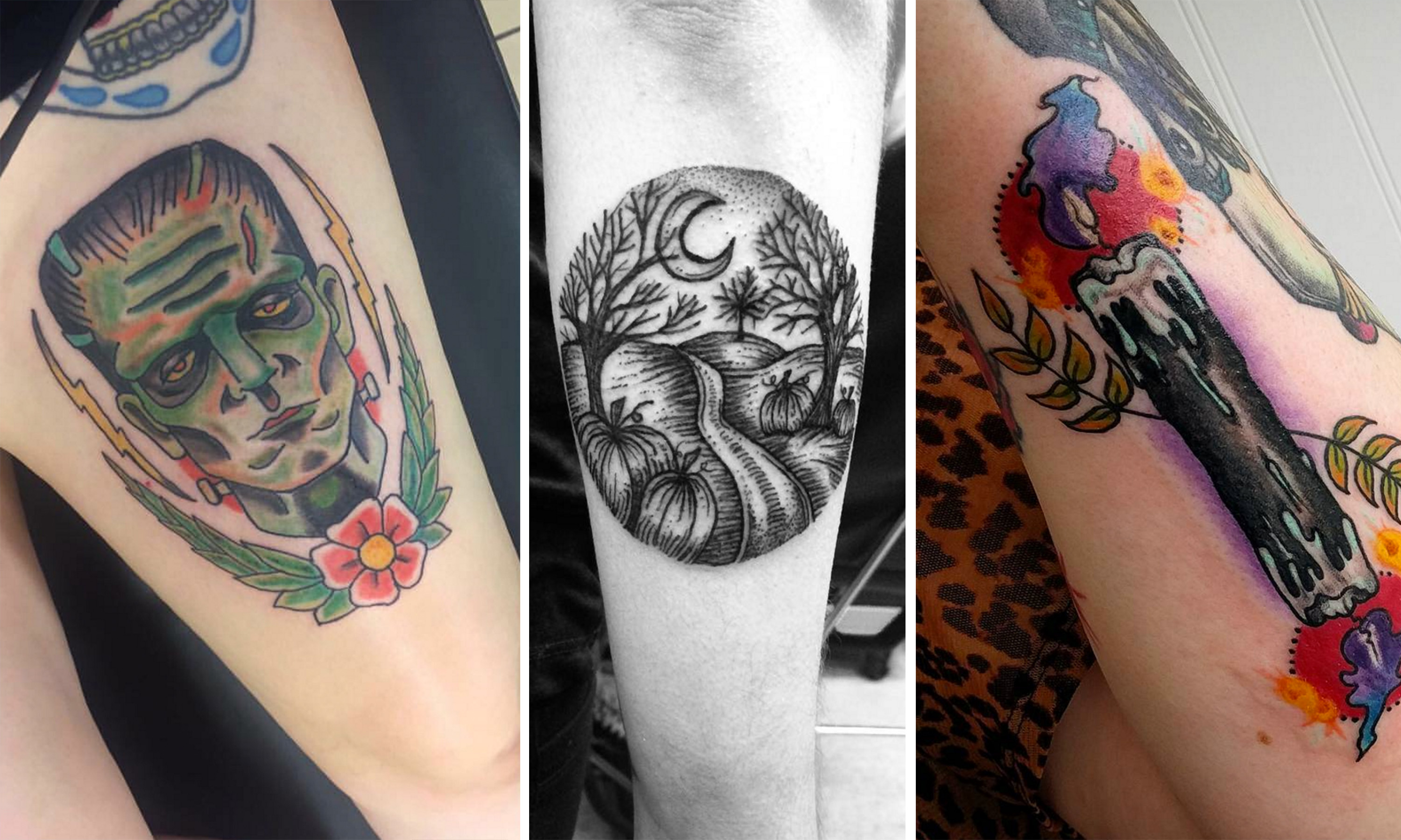 These 13 people love Halloween so much, they got it tattooed on their bodies