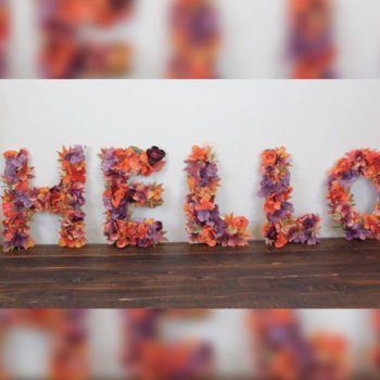 You'll want to make these flower letters for every season