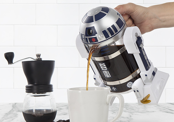 There's now an R2-D2 coffee press, and seriously just take all our money