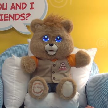 OMG there's a new Teddy Ruxpin and his LCD eyes are out of control