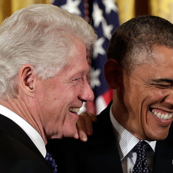 President Obama yelling at Bill Clinton to hurry up is the most dad thing that ever dadded