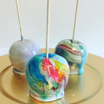 Here are a bunch of candy apples that are taking fall to the next level