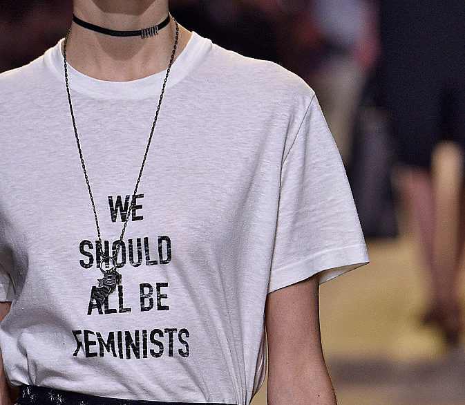 The first female creative director at Dior had some pretty empowering messages for the Paris show