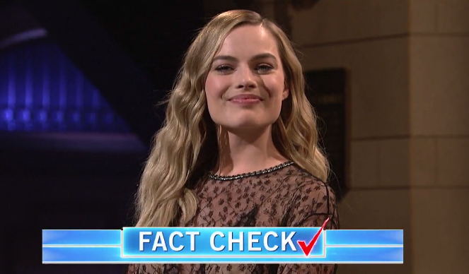 "Margot Robbie hilariously fact checked Jared Leto during her ""Saturday Night Live"" monologue"
