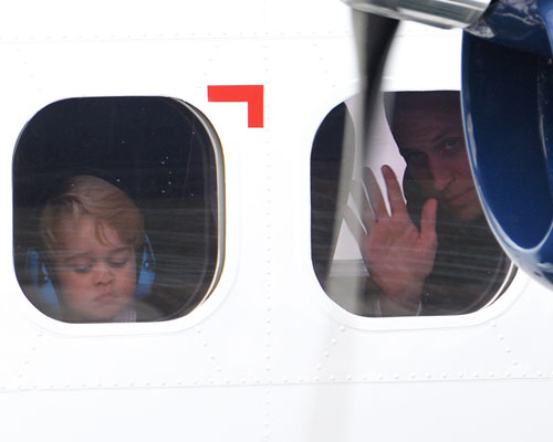 Prince George pressing his face against a window is all of us on Mondays