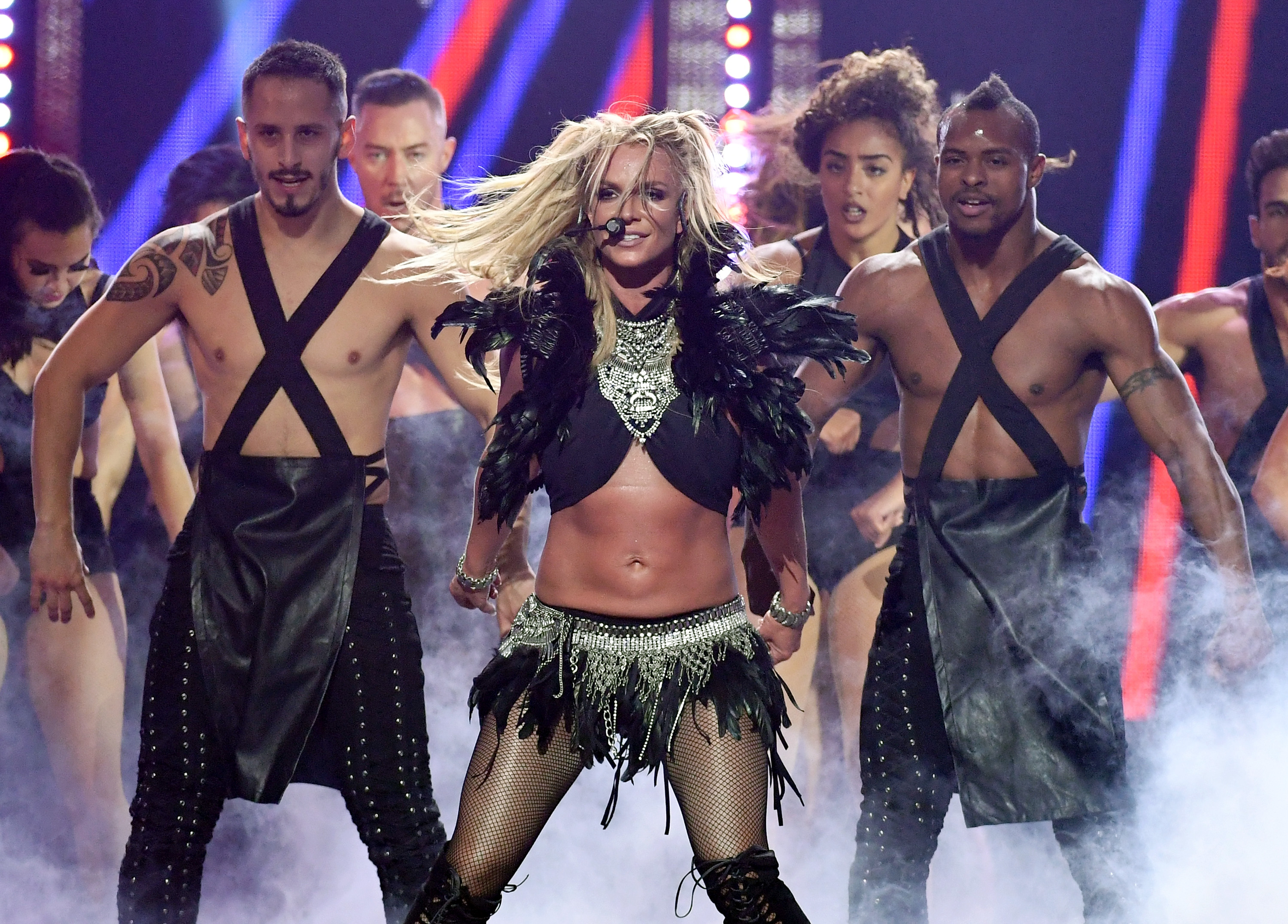 Britney Spears' male backup dancers are actually the Spice Boys and we are not worthy