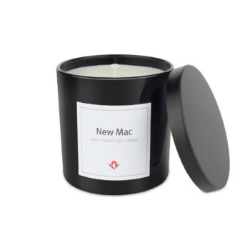 This candle smells like a freshly opened Mac (yes, the computer)