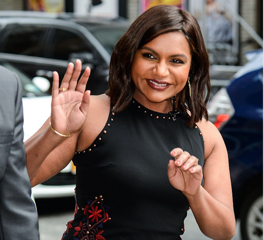 We are obsessed with this gorgeous and unique look from Mindy Kaling