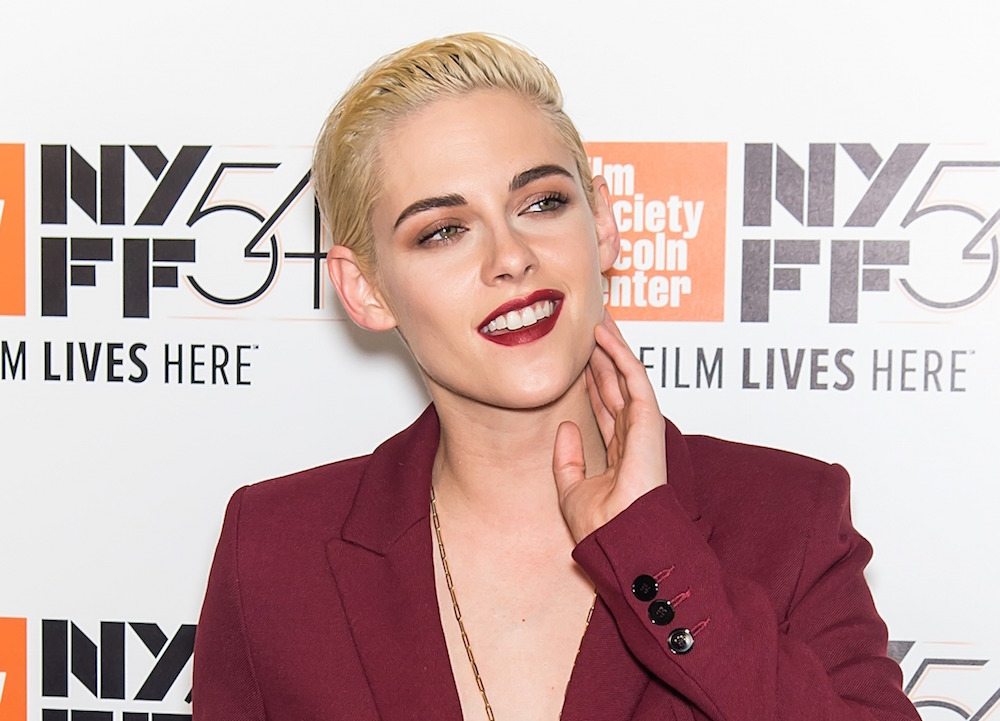 Kristen Stewart takes business lady style to another level by leaving her shirt at home