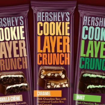 Hershey's is releasing three new cookie layer crunch bars because chocolate is life