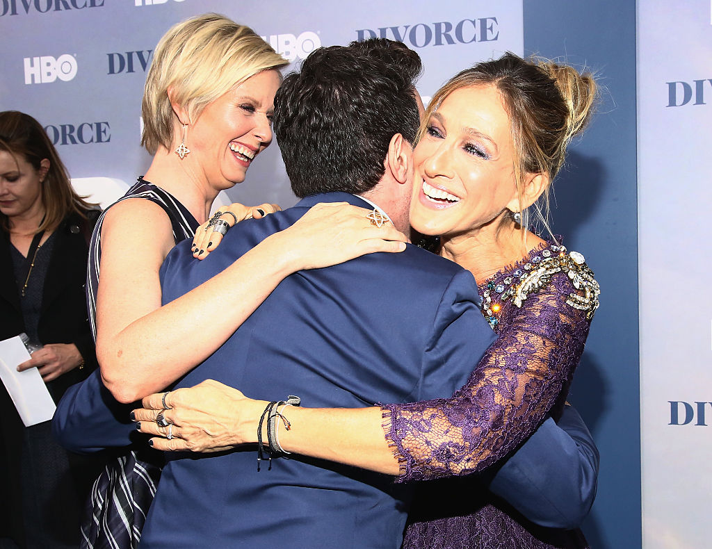 "There was a mini ""Sex and the City"" reunion at the premiere of Sarah Jessica Parker's new show"