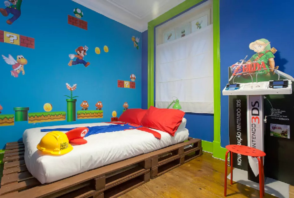 There's a Super Mario Bros themed Airbnb and we want to go to there