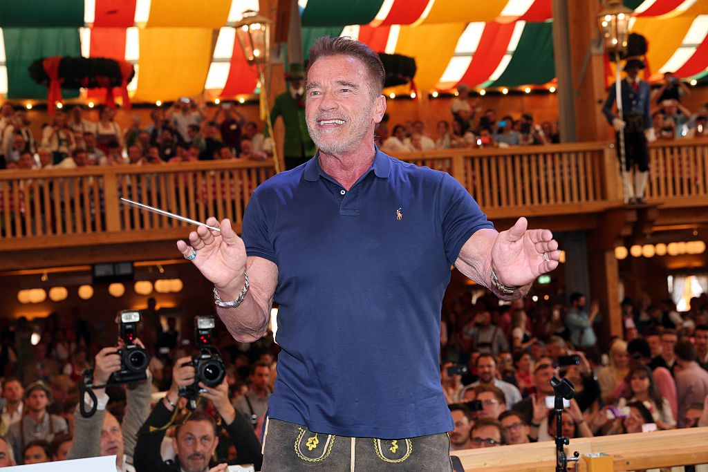 Arnold Schwarzenegger and his son are seriously twins in this new photo