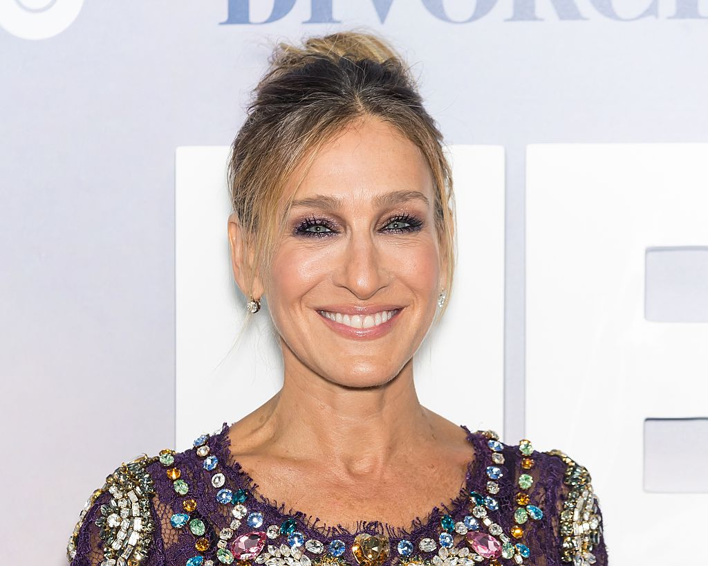 Sarah Jessica Parker wore a purple bejeweled gown — and had a mini 'Sex and the City' reunion!