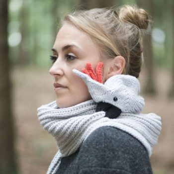 These animal scarves look like they're biting you and we are in love with them